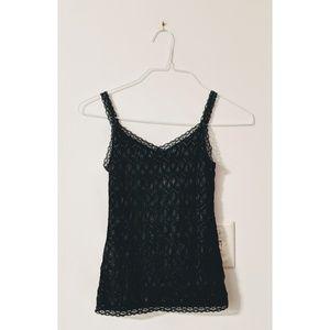 Ann Taylor black lace cami size XS